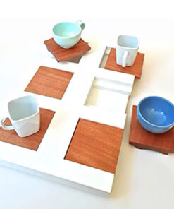vassoio caffè legno laccato