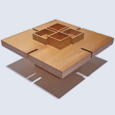 vassoio porta calici in legno